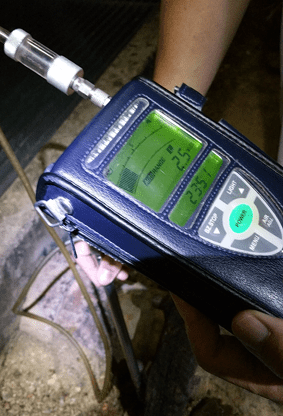 Gas pipe inspection leak detector
