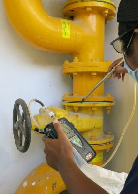 Gas pipe inspection