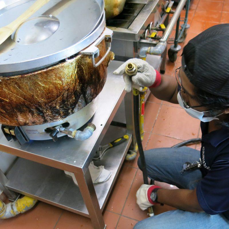 Flexible hose replacement gas pipe repair